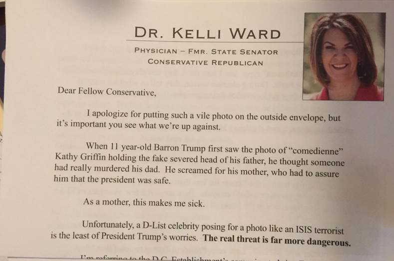 Ward's campaign confirmed they approved the mailer. (Source: 3TV/CBS 5)
