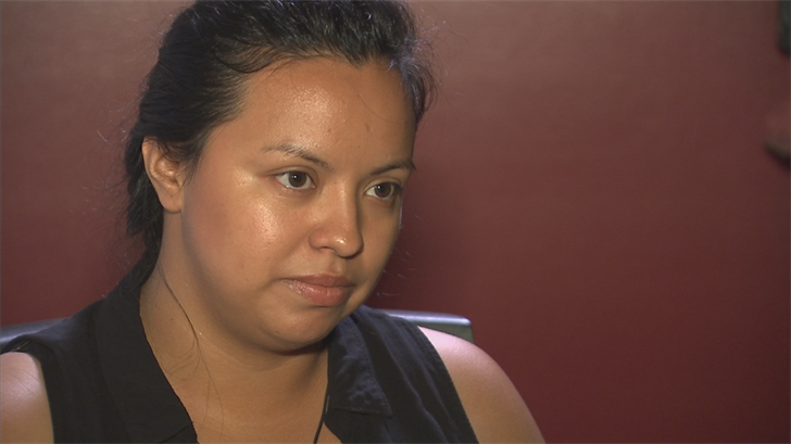 Fighting back tears, Garnica describes the day her world shattered. (Source: 3TV/CBS 5)