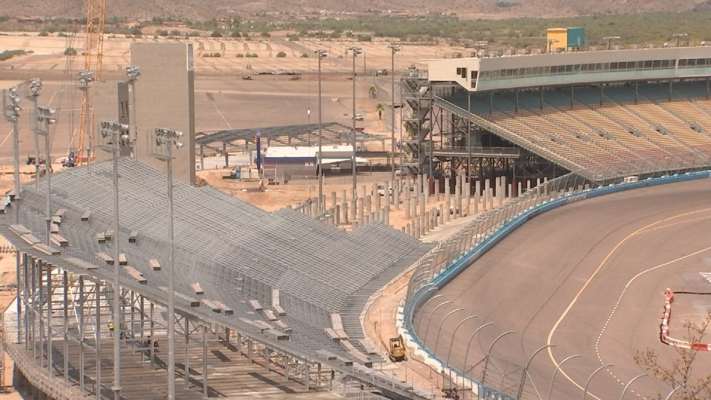 PIR Communications Manager Greg Fresqueztold us the grandstands will be bigger and better than before. (Source: 3TV/CBS 5)