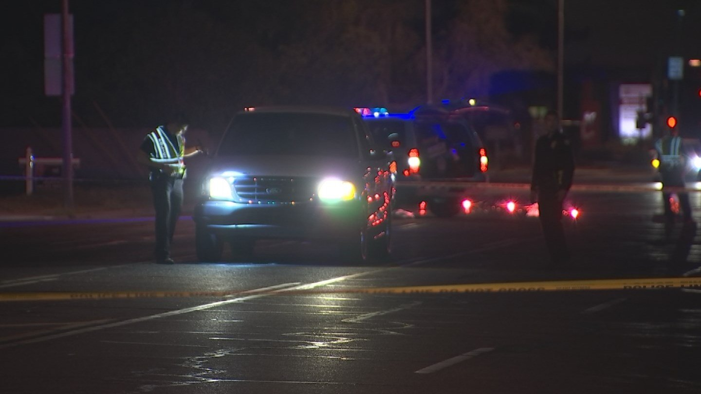 A man was severely injured after being struck by a car in Phoenix late Thursday night. (Source: 3TV/CBS 5)