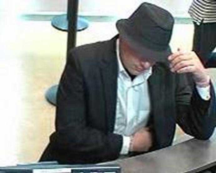 "Bank robbery suspect dubbed the ""Blues Bandit"" (Source: FBI)"