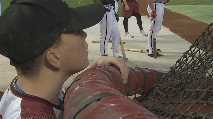 Eleven-year-old Kaleb is a huge Arizona Diamondbacks fan. On Saturday, he had a dream day at Chase Field thanks to the Make-A-Wish Foundation.  (Source: 3TV/CBS 5)