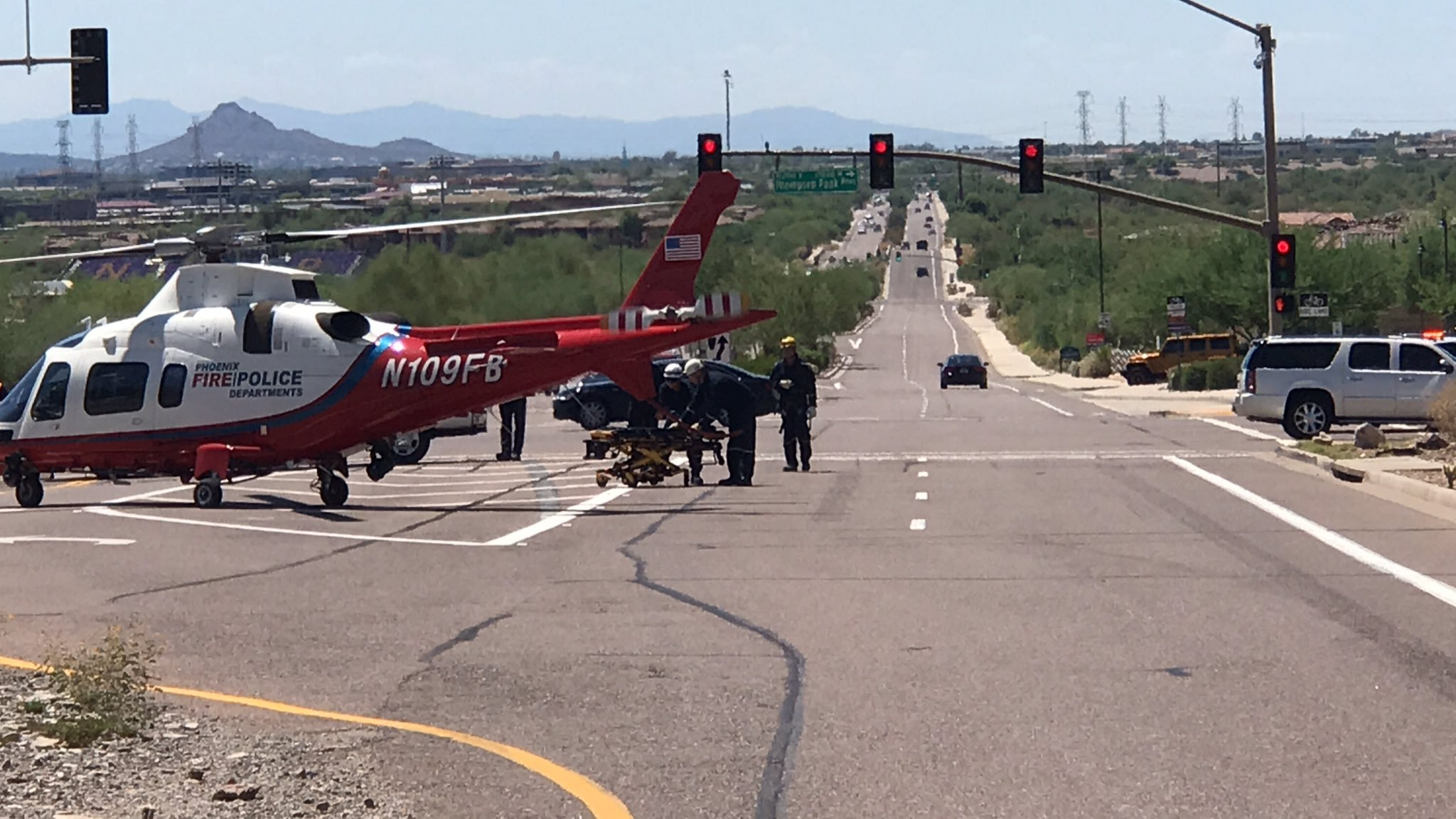 At least one person had to be flown off a mountain in Scottsdale. (Source: Scottsdale Fire Department)