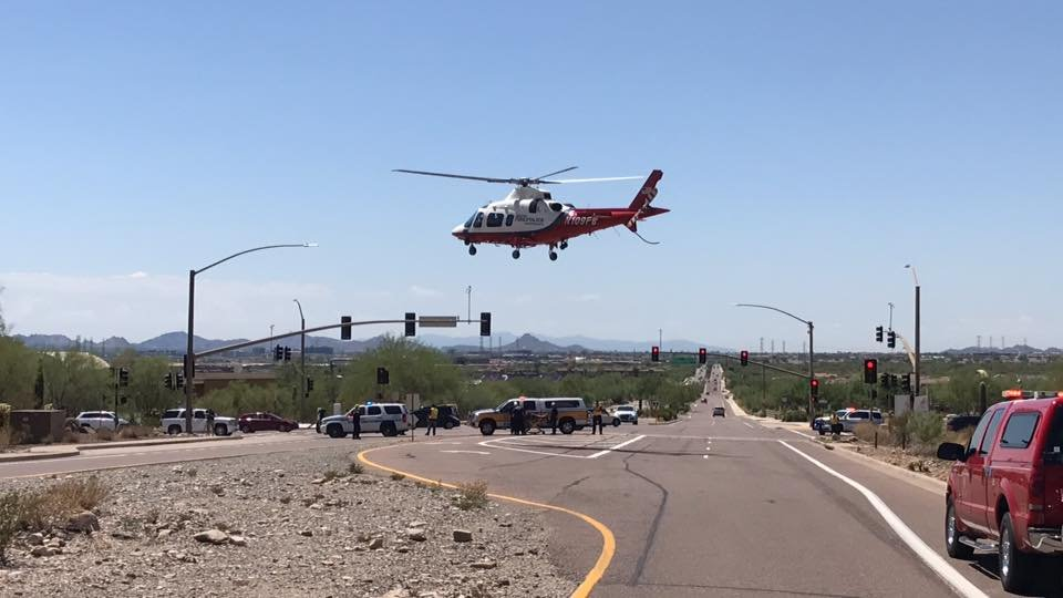 The victim was having heat-related problems. (Source: Scottsdale Fire Department)
