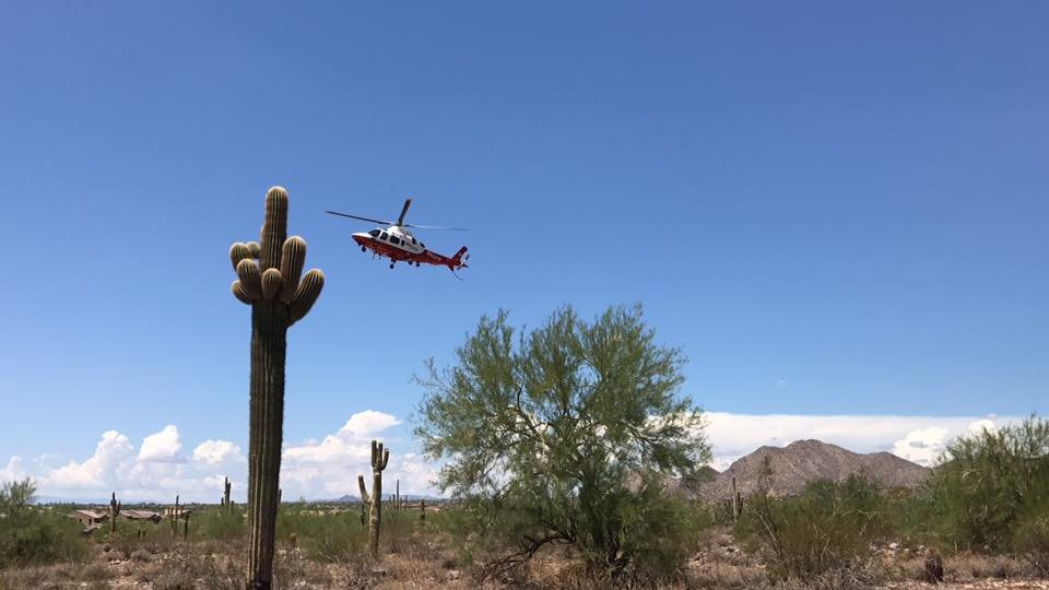 The hiker was taken to the hospital for an evaluation. (Source: Scottsdale Fire Department)
