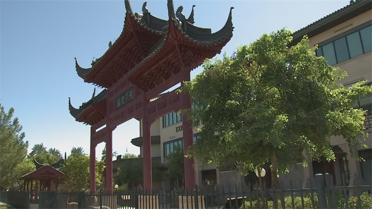 A Chinese architect helped build the center 20 years ago with special materials and supplies from China. (Source: 3TV/CBS 5)