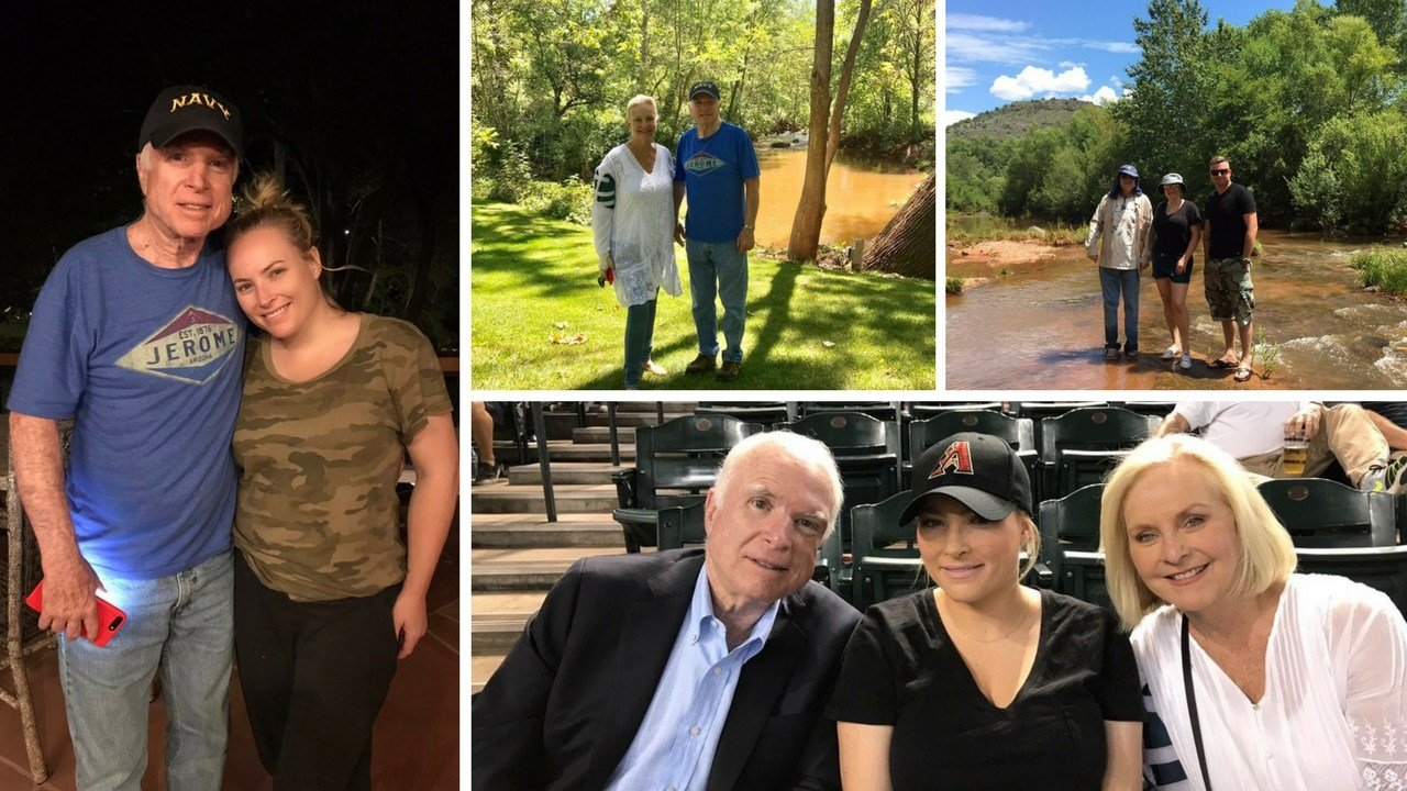 Keeping to his promise of staying busy, Sen. John McCain spends time with family in Arizona.(Source: Twitter.com/SenJohnMcCain)