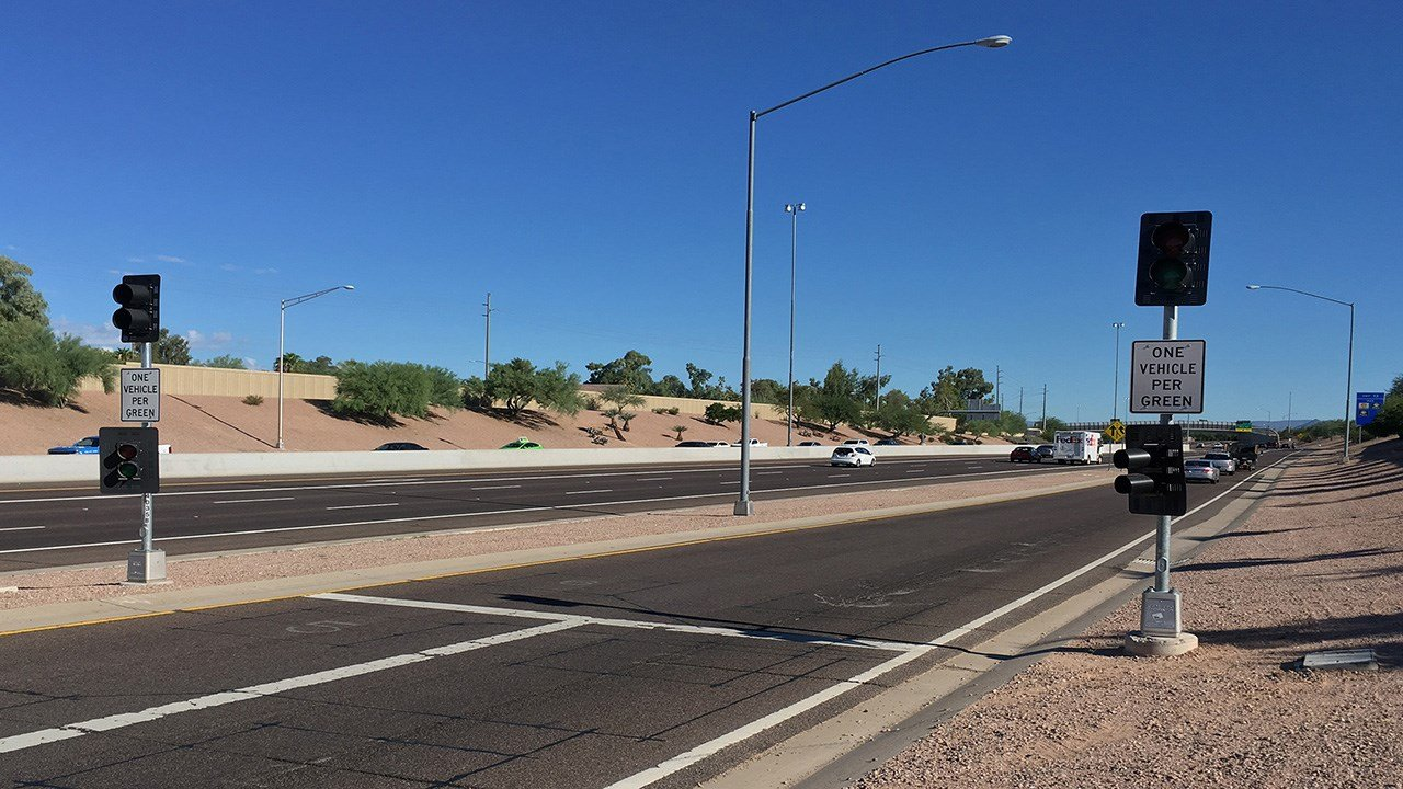 SR51 metering ramp. (Source: Arizona Dept. of Transportation)