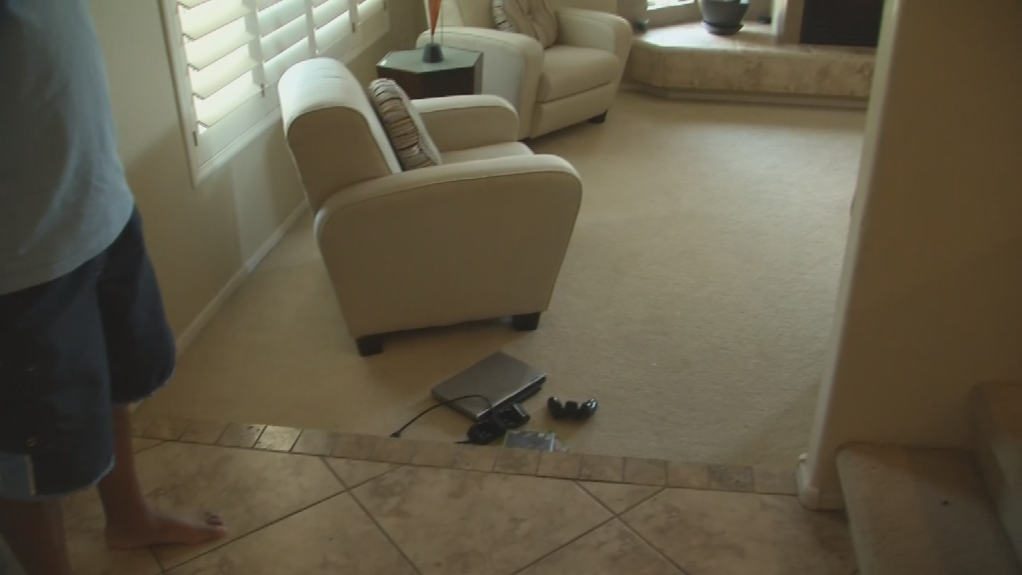 The suspects stole jewelry, electronics and several limited-edition shoes collected by the teen and his younger brother, but they also left a lot of items behind in the haste to escape. (Source: 3TV/CBS 5)
