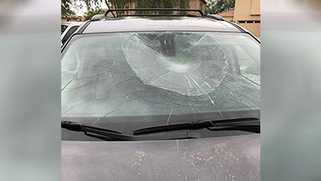 Some vandals kicked in car windshieldsjust for fun around Dynamite Road and 31st Avenue in north Phoenix. (Source: 3TV/CBS 5)