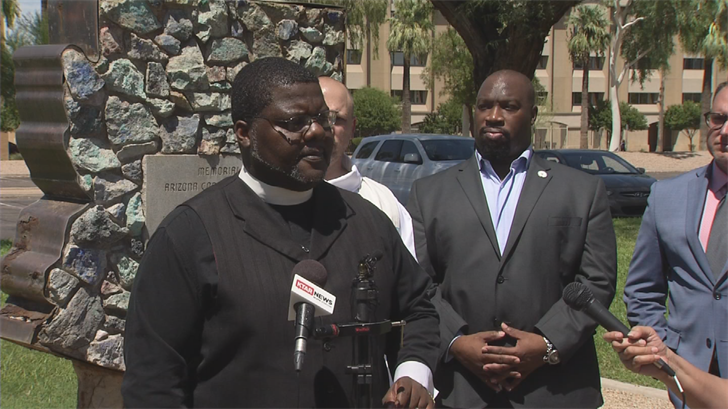 Community leaders called on Doug Ducey to bring down the Confederate monuments in Arizona. (Source: 3TV/CBS 5)