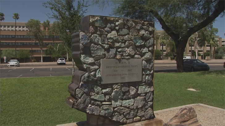 There are six Confederate memorials on state land throughout Arizona. (Source: 3TV/CBS 5)