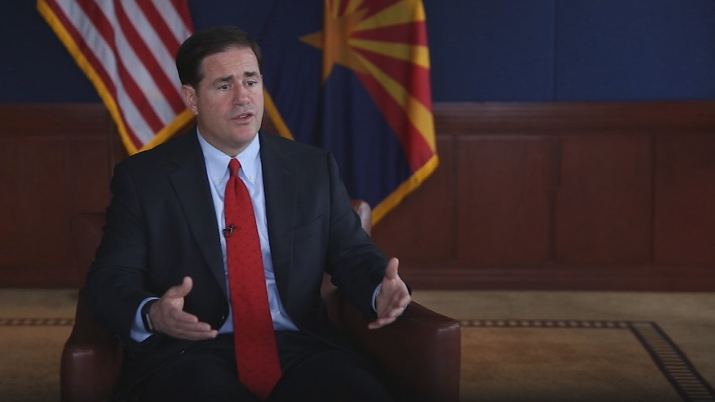 Ducey said on Monday he condemned racial bigotry but has no interest in tearing down Confederate monuments and memorials in Arizona. (Source: 3TV/CBS 5)