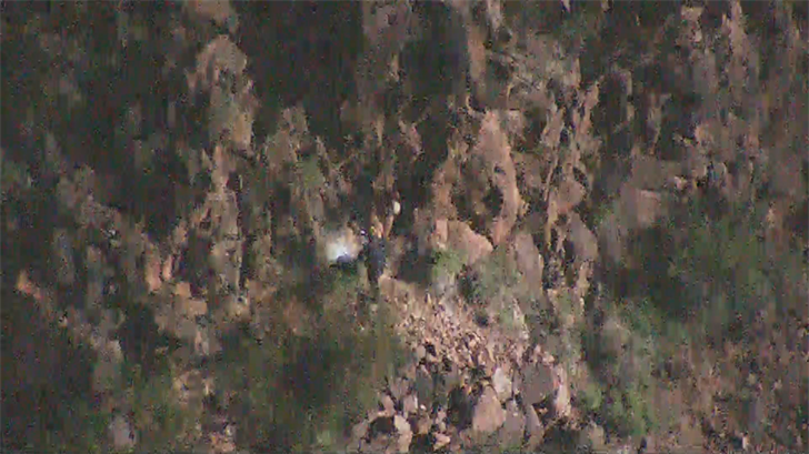 Some crews went up the mountain to him and walked him to an area where he was flown off the mountain. (Source: 3TV/CBS 5)