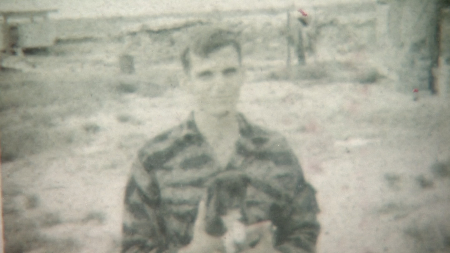 The dog tag came off Allsup's boot in 1969, the night he and his platoon were ambushed. (Source: 3TV/CBS 5)