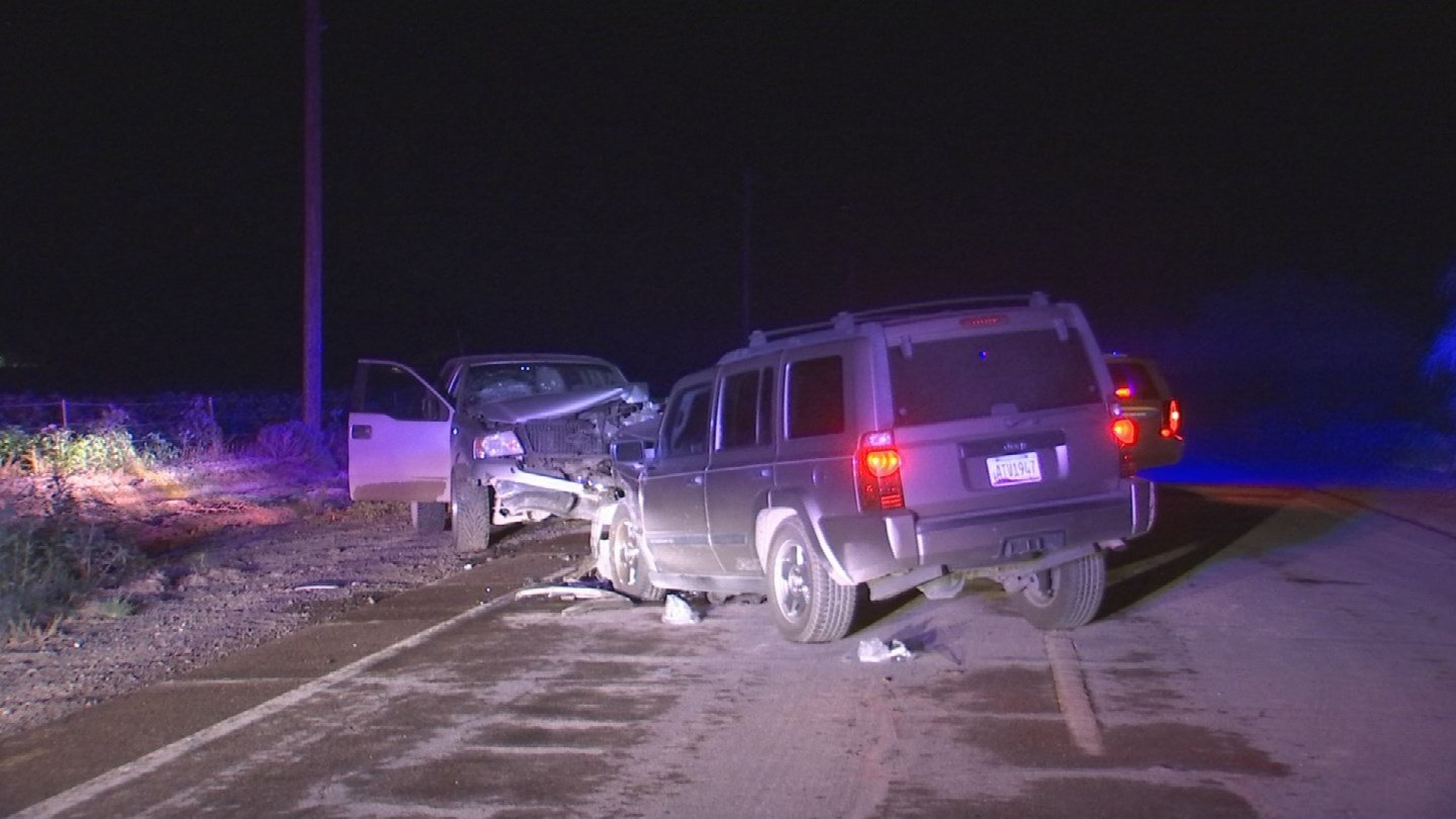 A suspected impaired driver caused a head-on crash in Phoenix late Wednesday night. (Source: 3TV/CBS 5)