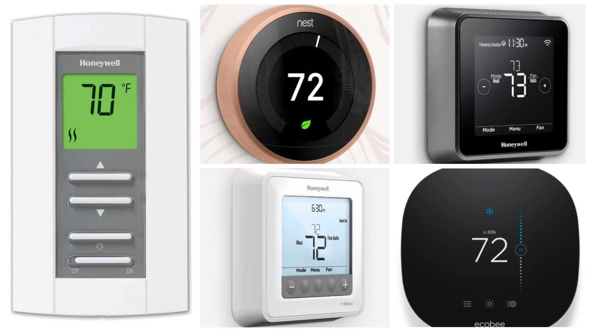 Programmable thermostats have been around for a long time and provided you take the time to actually program them, they can save you money. (Source: Nest, EcoBee, Honeywell)