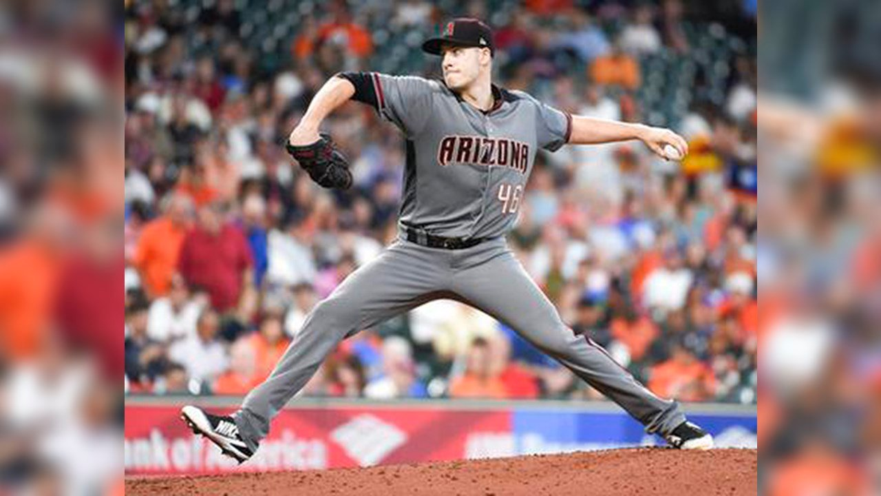 Arizona Diamondbacks starting pitcher Patrick Corbin delivers during the third inning of the team's game against the Houston Astros, Thursday, Aug. 17, 2017, in Houston. (Source: AP Photo/Eric Christian Smith)