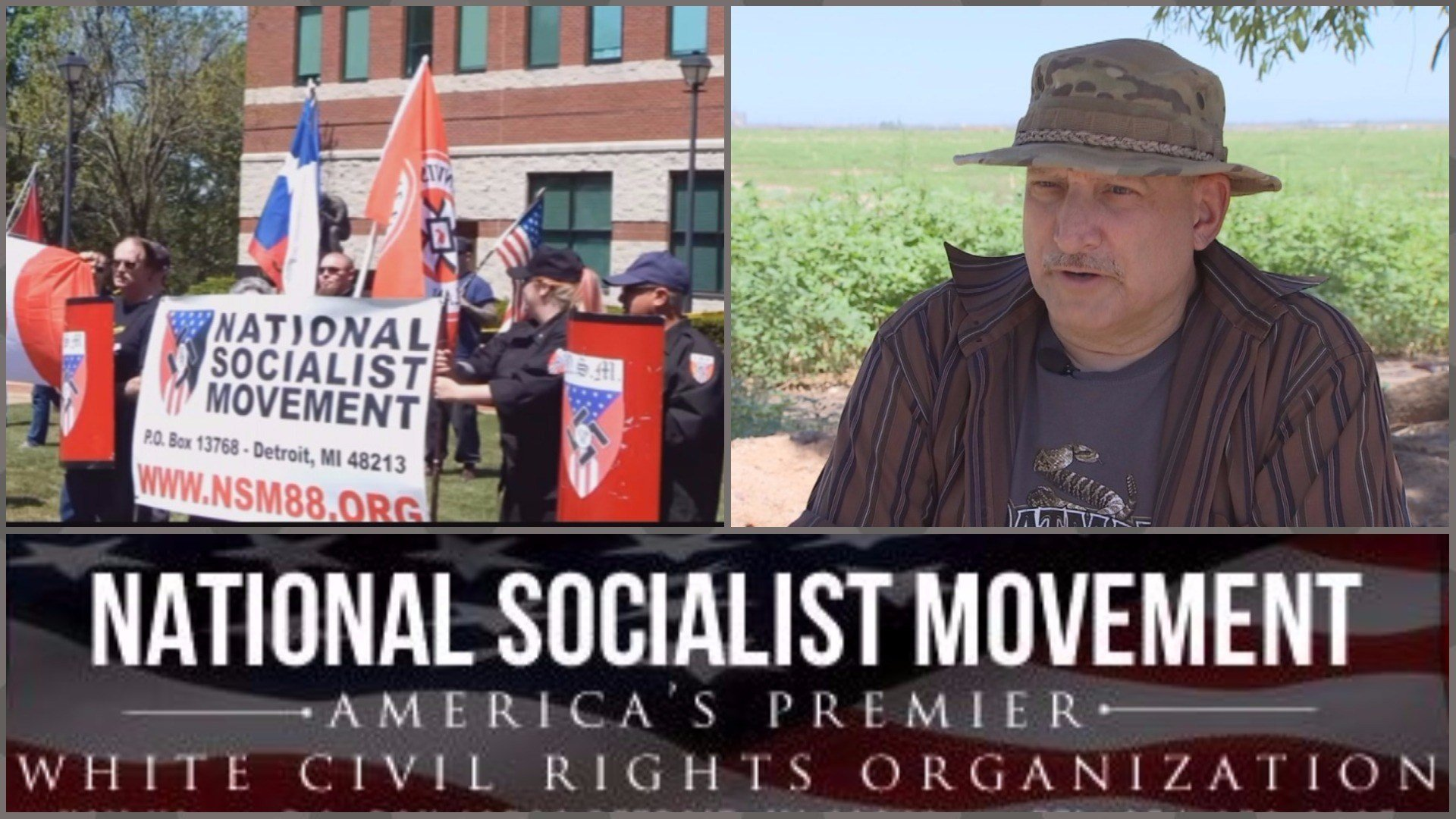 Harry Hughes is the Southwest regional leader of the National Socialist Movement. (Source: 3TV/CBS 5 and NSM88.org0