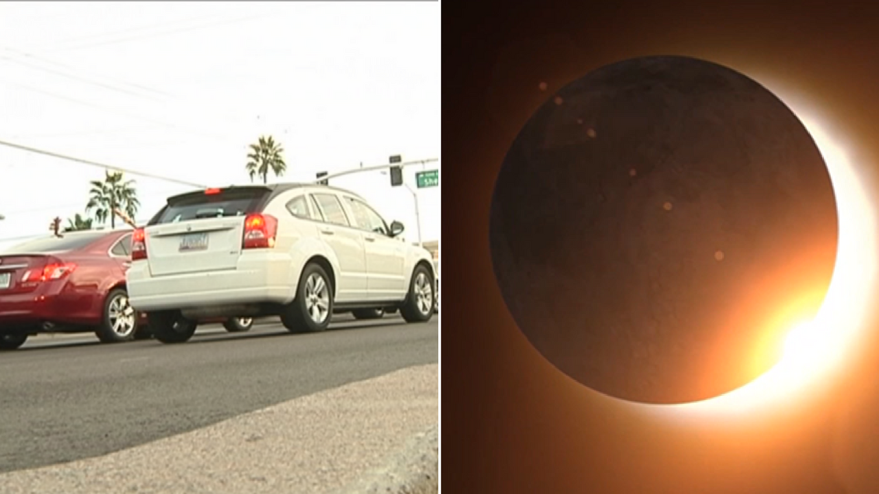 There are some precautions drivers should take while driving during the solar eclipse. (Source: 3TV/CBS 5)