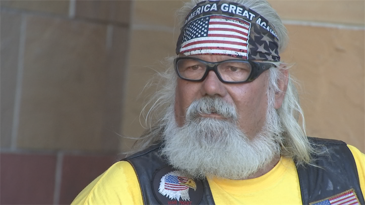 """""""We're not here to start anything,"""" said Jim Williams. Williams is with Bikers for Trump Arizona.He says their goal is simply to make sure the people who want to come see and hear the President on Tuesday can do so comfortably. (Source: 3TV/CBS 5)"""