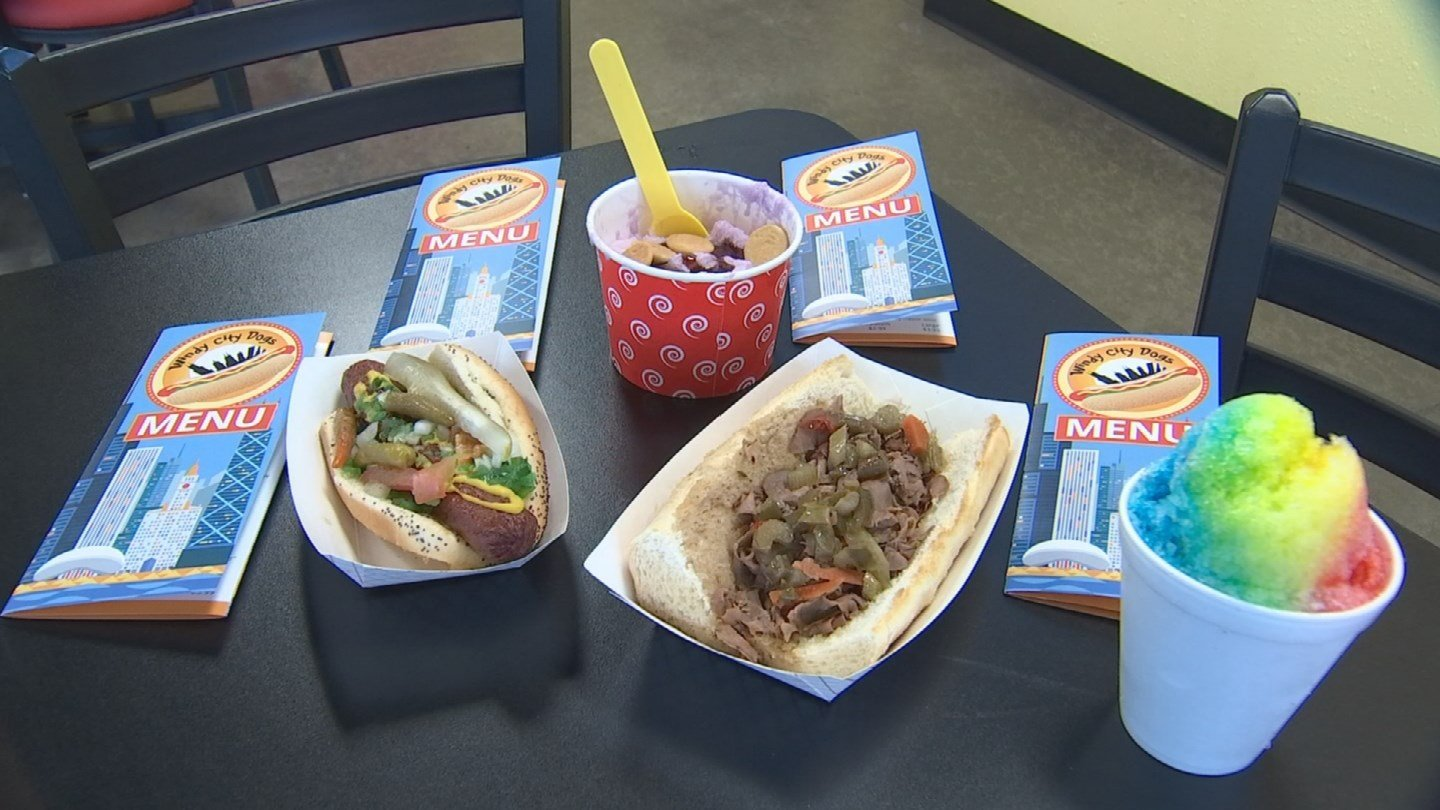 Windy City Dogs has it all: Chicago-style hot dogs, Italian beef sandwiches and now shaved ice cream! (Source: 3TV/CBS 5)
