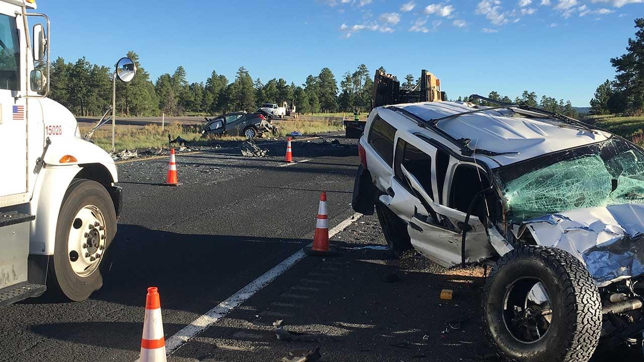 I-17 two car crash near Munds Park. (Source: AZDPS)