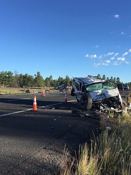 I-17 crash south of Munds Park. (Source: AZDPS)