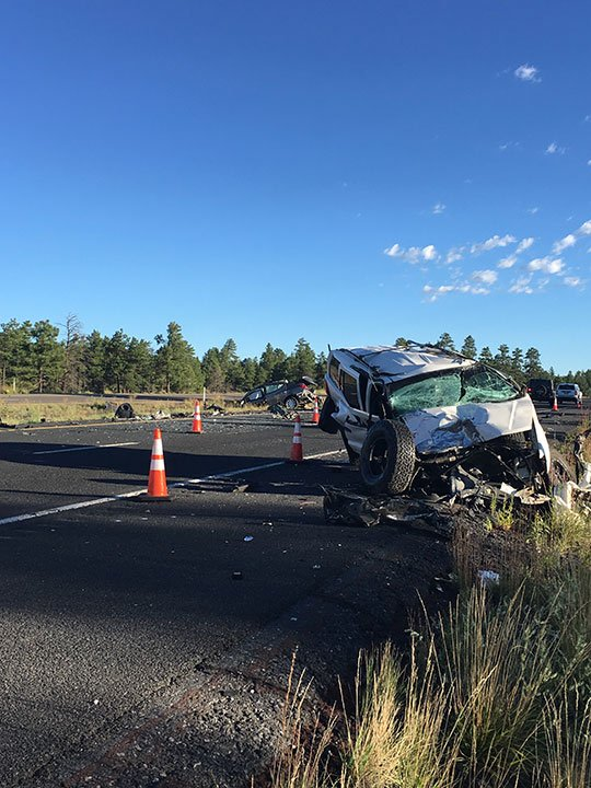 I-17 crash south of Munds Park. (Source: AZDPS)