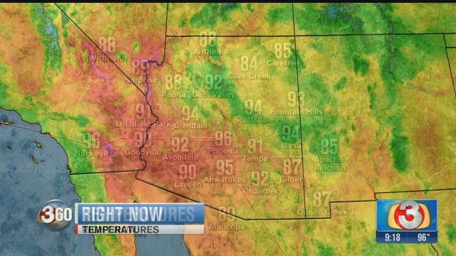 Weekend weather will be warm and dry. (Source: 3TV/CBS 5 News)