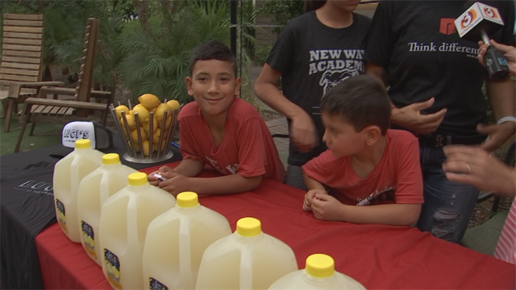 A lemonade stand fundraiser was held at Luci's at the Orchard. (Source: 3TV/CBS 5)