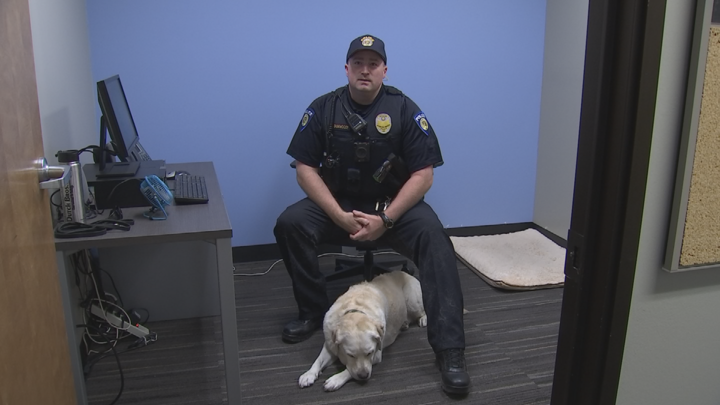 Ofc. Parker Dunwoody and Disney were side by side for eight years, conducting safety sweeps and assisting criminal investigations all over the country. (Source: 3TV/CBS 5)