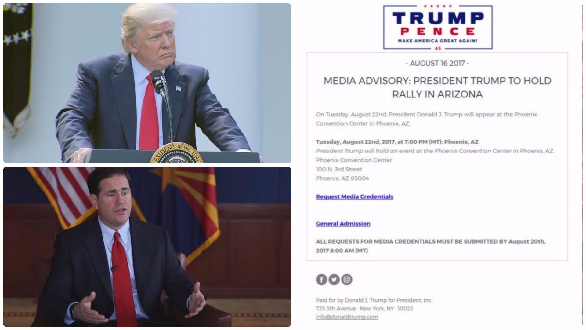 Phoenix courts closing early for Trump rally