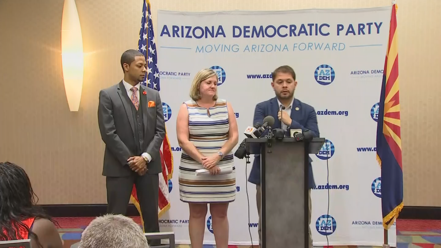 Arizona Democratic leaders aren't too happy that Donald Trump is having a rally in Phoenix on Tuesday. (Source: 3TV/CBS 5)