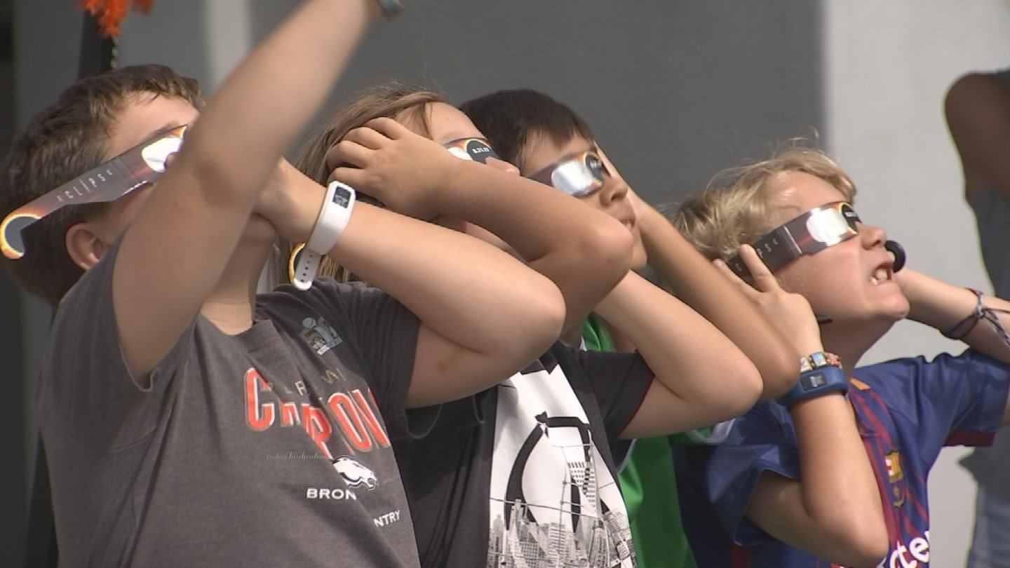 The solar eclipse spawned many viewing parties. (Source: 3TV/CBS 5 News)