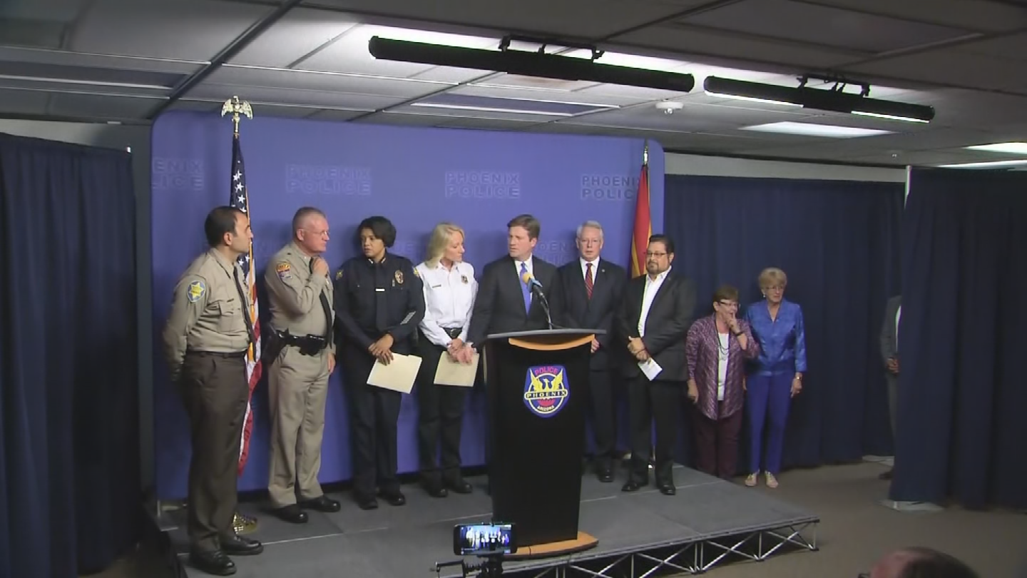 Public safety officials from the City, County and the state said they're fully prepared to handle protests surrounding President Donald Trump's rally in downtown Phoenix. (Source: 3TV/CBS 5)