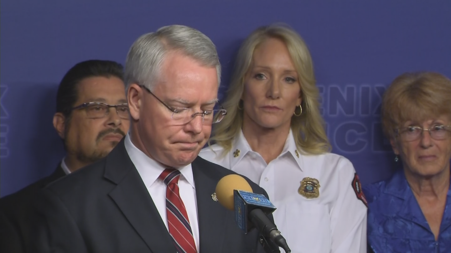 Maricopa County Attorney Bill Montgomery made it clear that he stands side by side with law enforcement officials to carry out the mission of public safety. (Source: 3TV/CBS 5)