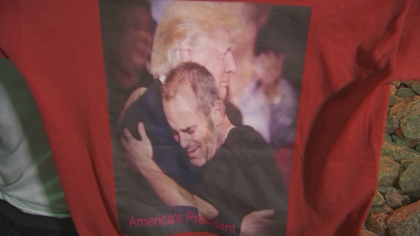 Huber gained national famed when he was called on stage during a Trump rally and Trump gave him a hug. (Source: 3TV/CBS 5)