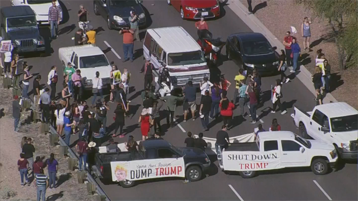 If protesters try to block traffic like they did in March of 2016, they could face harsher penalties. (Source: 3TV/CBS 5)