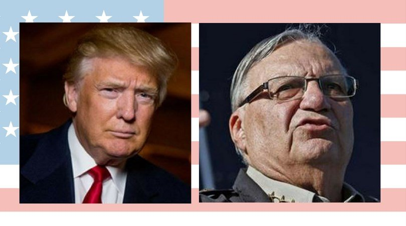 "During his rally at the Phoenix Convention Center on Tuesday night, Trump said he didn't want to pardon Arpaio because he didn't want ""to cause any controversy."" (Source: 3TV/CBS 5)"