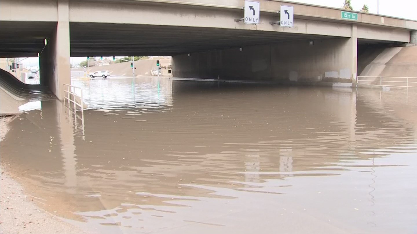 Some intense storms have flooded freeways in the Valley. (Source: 3TV/CBS 5)