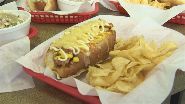 The family-owned shop has 24 different varieties of hot dogs. (Source: 3TV/CBS 5)