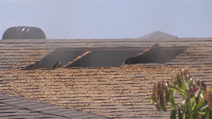 Firefighters had to go on the roof to cut ventilation holes in order to stop the spread of the fire to the entire home. (Source: 3TV/CBS 5)