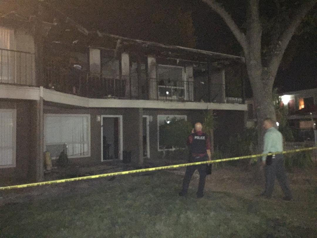 The apartment was destroyed and nearby units were damaged. (Source: 3TV/CBS 5)