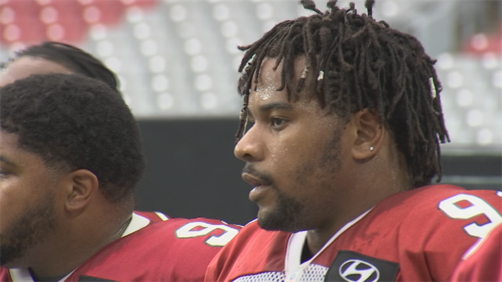 Robert Nkemdiche strained a calf muscle and won't play in Atlanta. (Source: 3TV/CBS 5)