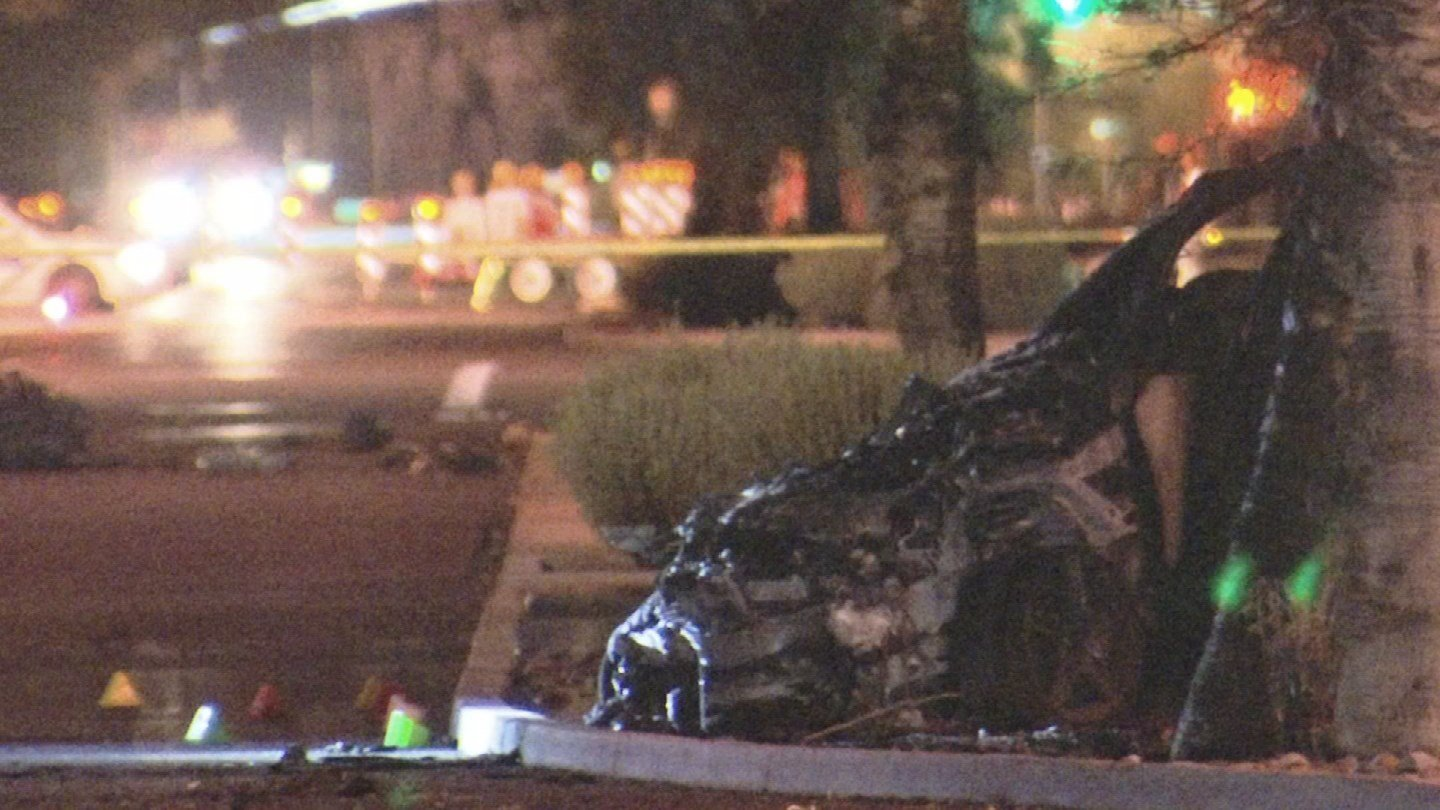 Phoenix fire crews responded to an accident near 60th Place and Shea Boulevard where they pronounced one driver dead and transported two others to a local hospital, one in serious condition and the other for precautionary reasons. (Source: 3TV/CBS 5)