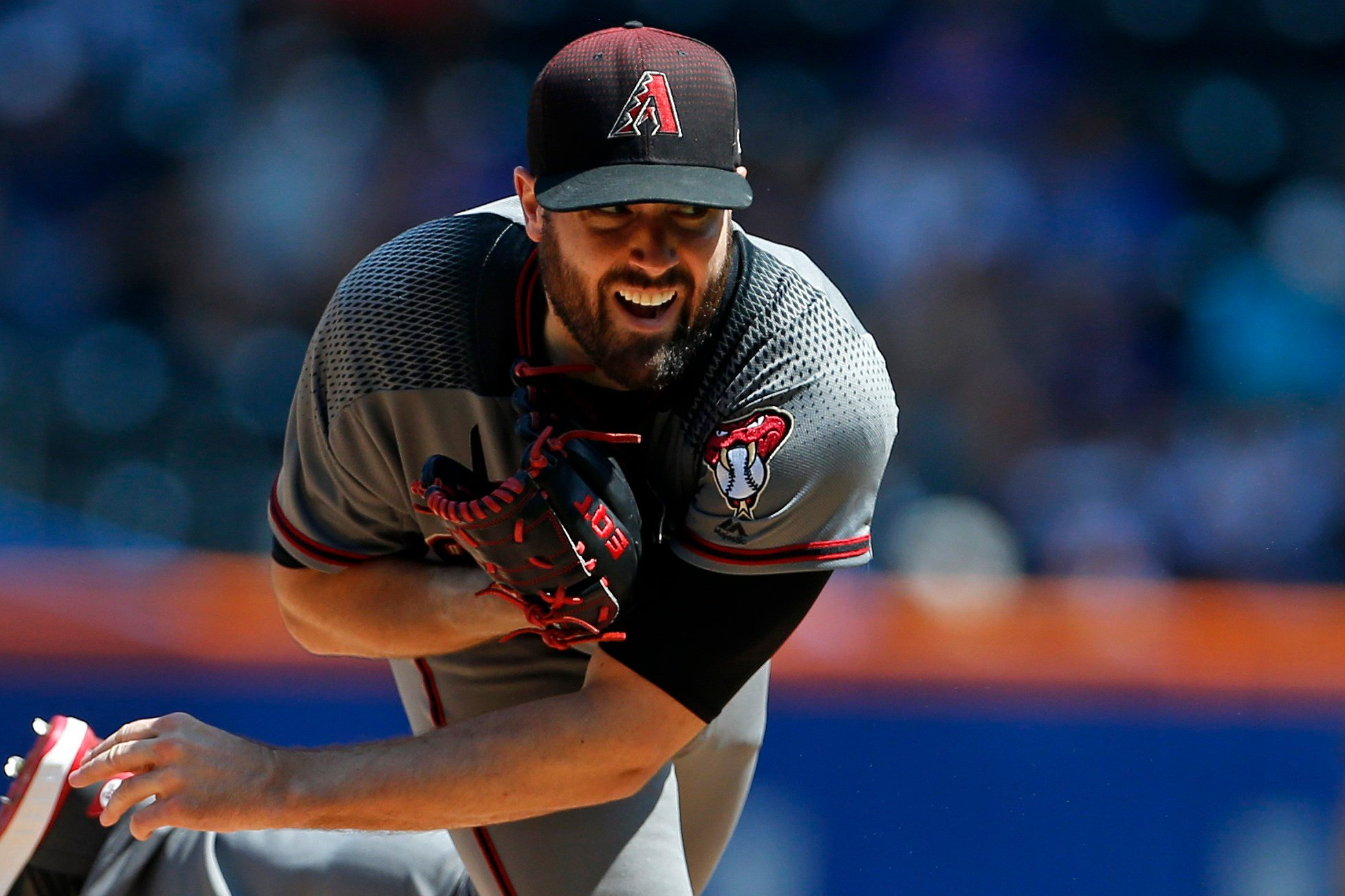 Arizona Diamondbacks pitcher Robbie Ray delivers a pitch during the first inning of a baseball game against the New York Mets on Thursday, Aug. 24, 2017, in New York. (Source: AP Photo/Adam Hunger)