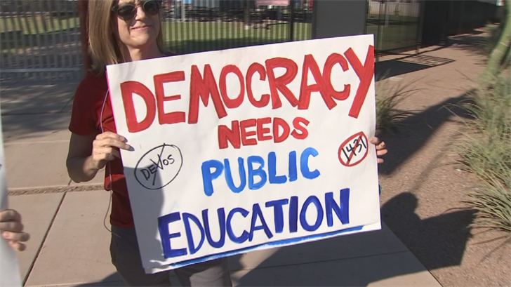 The group called Save Our Schools Arizona has succeeded in at least temporarily blocking the school choice program by filing petition signatures earlier this month. (Source: 3TV/CBS 5)