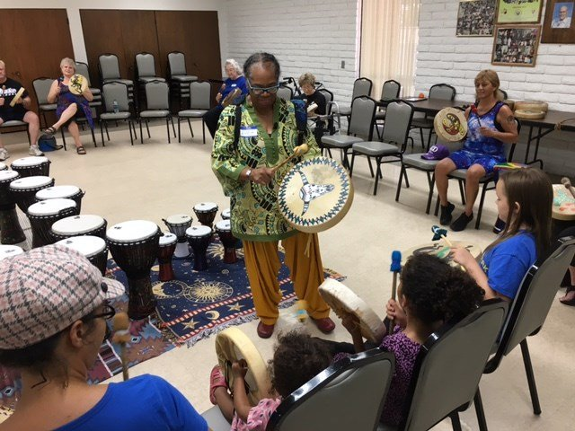 Woods started hosting drum circles in the West Valley last year as a way to help seniors relieve stress and provide an outlet for children to feel better about themselves. (Source: 3TV/CBS 5)