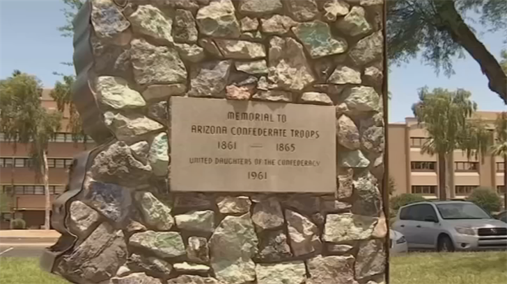 A majority of Arizona voters want to keep the Confederate memorial at the state Capitol, according to a new poll released Thursday. (Source: 3TV/CBS 5)
